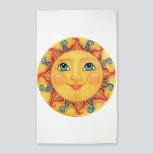 Sun Face #3 - Summer 3'x5' Area Rug